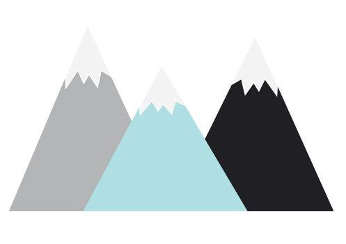 Stickers Montanhas menta