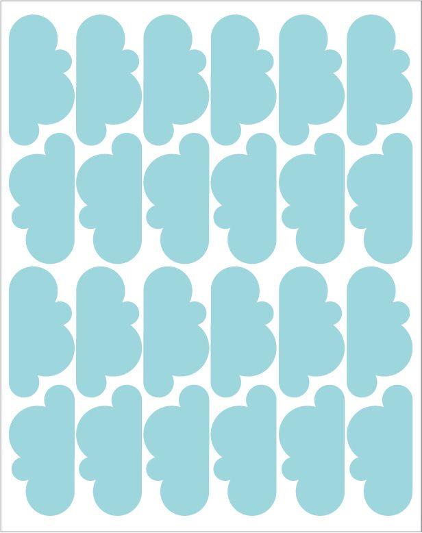 Adesivos de Parede - Nuvens Azul