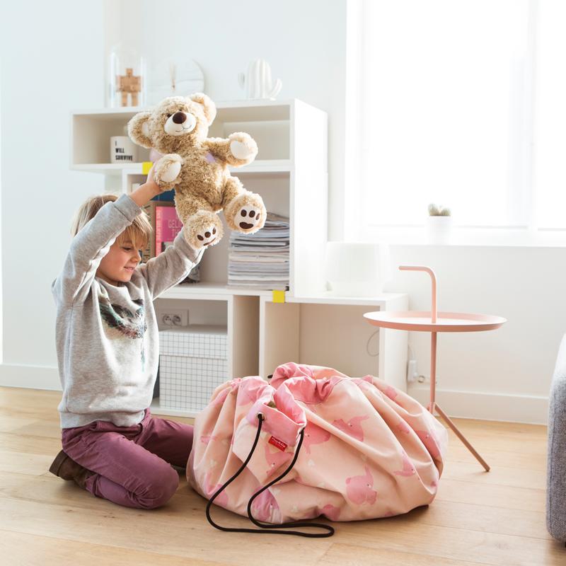 Saco de Brinquedos - Elefantes Rosa
