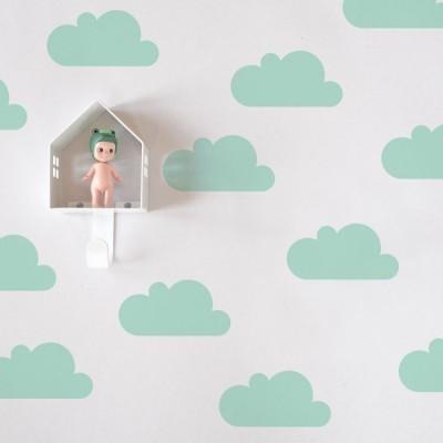Adesivos de Parede - Nuvens Menta