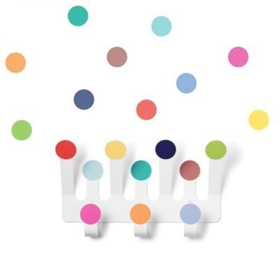Cabide Bolinhas Coloridas