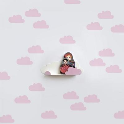 Adesivos de Parede - Nuvens Rosa
