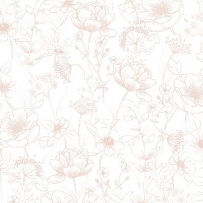 Papel de Parede Flores Rosa