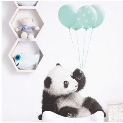 Panda com balões