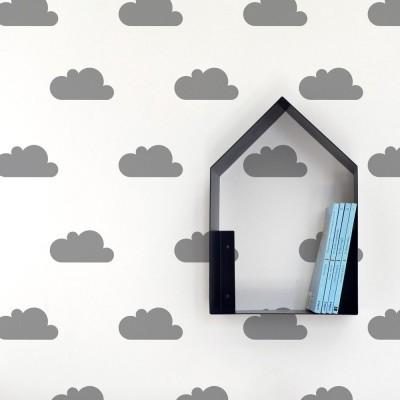Adesivos de Parede - Nuvens Cinza