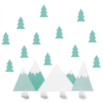 Cabide Montanhas Menta + 12 Arvores