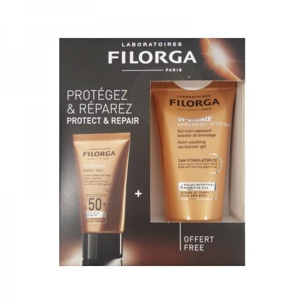 Filorga - Coffret UV-Bronze Proteger & Reparar 40+50ml