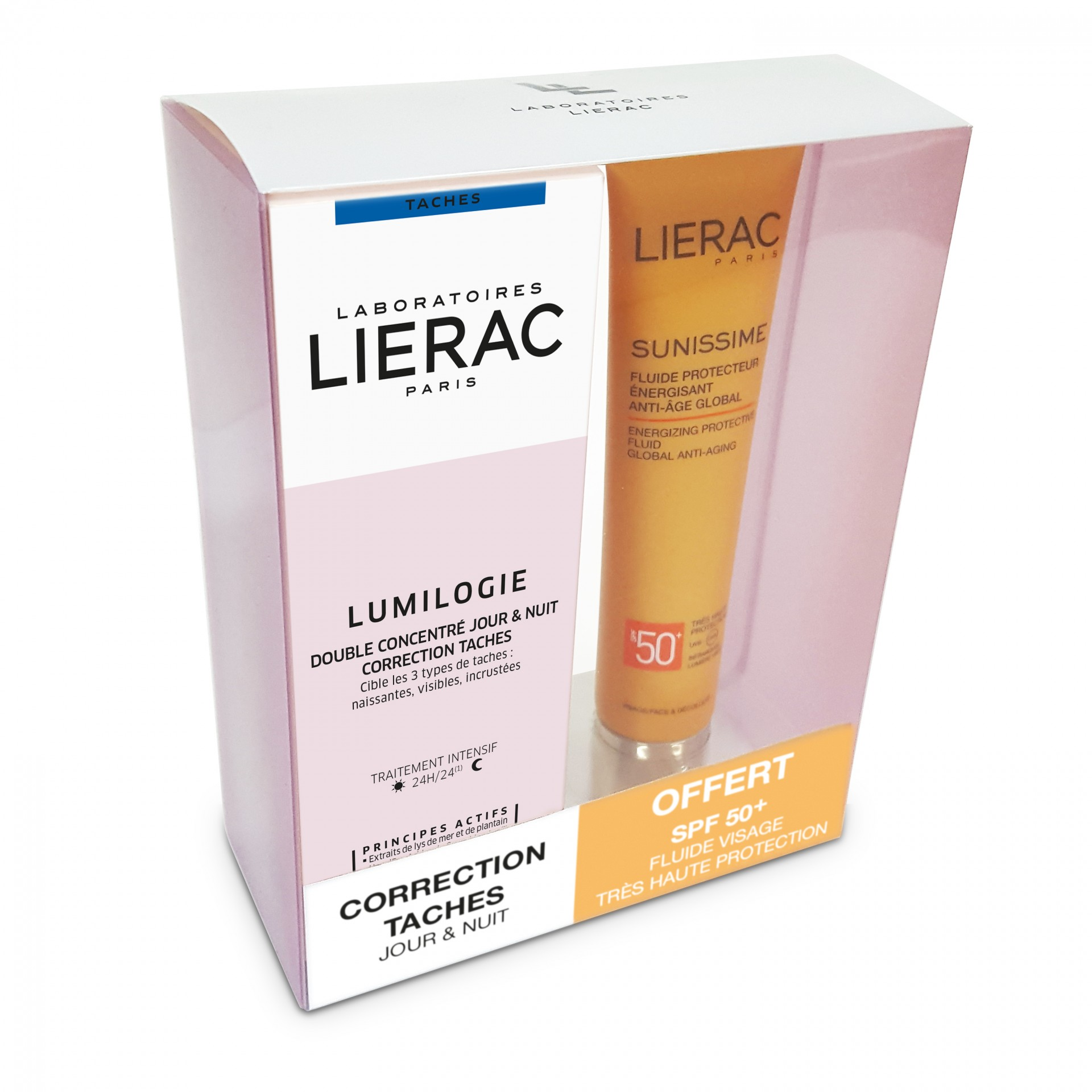 Lierac - Coffret Lumilogie Sérum 2x15ml + Sunissime Rosto SPF50+ 40ml