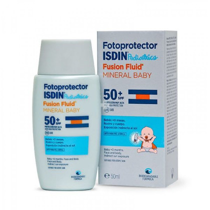 Isdin - Fusion Fluid Mineral Baby Pediátrico FPS50+ 50ml