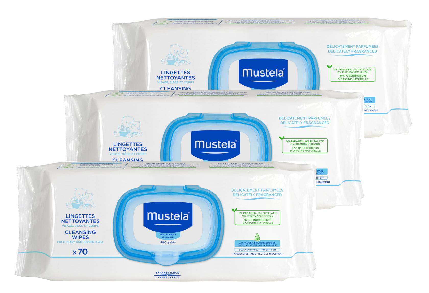 Mustela - Toalhetes Dermo-Suavizantes 3x70 unidades