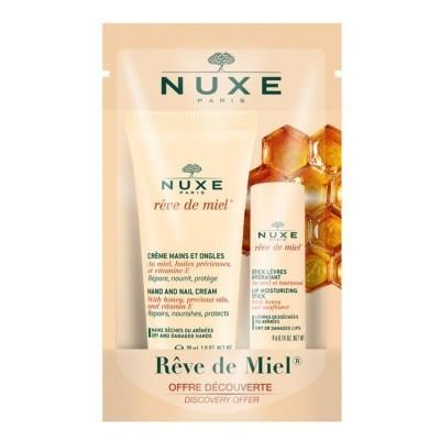 Nuxe - Rêve De Miel Kit Stick Labial + Creme De Mãos E Unhas