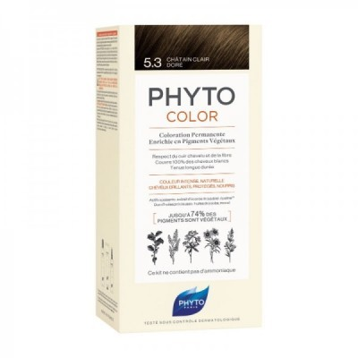 Phyto - Phytocolor Coloração Permanente 5.3 Castanho Claro Dourado