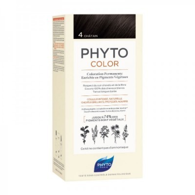 Phyto - Phytocolor Coloração Permanente 4 Castanho