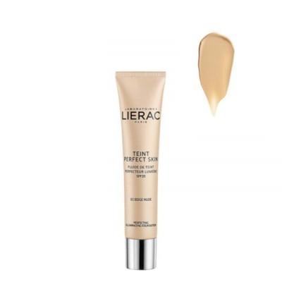 Lierac - Teint Perfect Skin Fluido Aperfeiçoador Luminosidade SPF20 01 Bege Nude 30ml