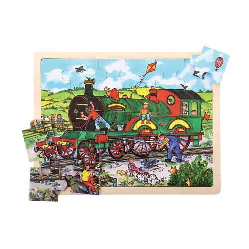 Puzzle Gigante Locomotiva - 24 peças