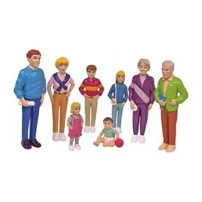 Bonecos de plástico - família