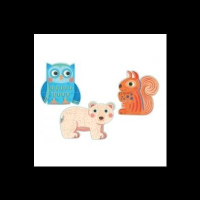 Puzzle em cartão - Formas de animais