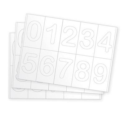 Números em Cartão - 40 peças