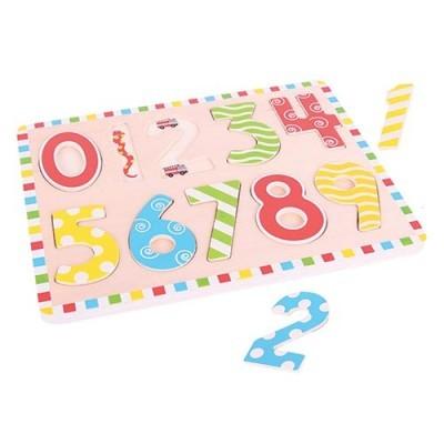 Puzzle Números - 10 peças