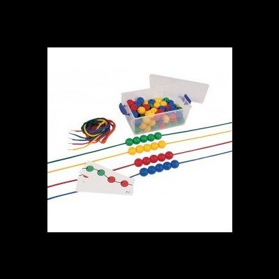 Pérolas redondas em plástico para laçar