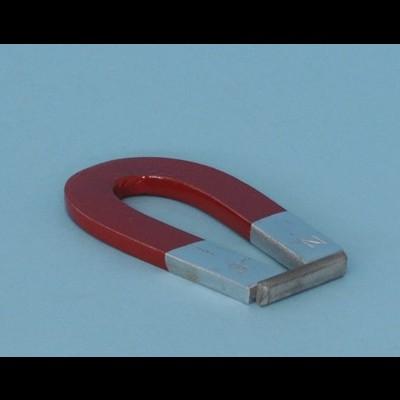 Íman em ferradura aço cromado, 75x12x5 mm