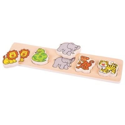 Puzzle dos Animais - 5 peças