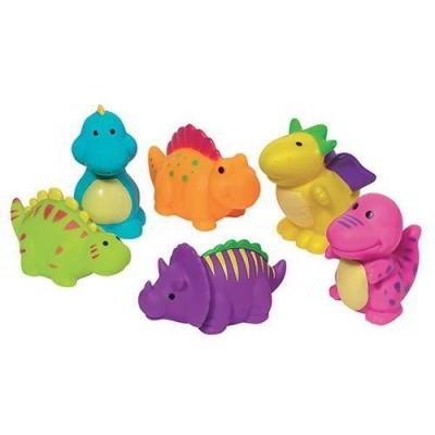 6 bonecos banho dinossauro