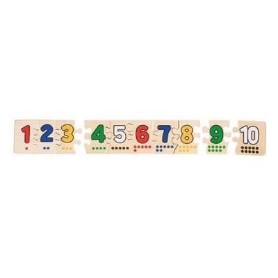 Puzzle Números em Madeira - 10 peças