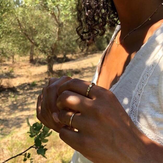 Anéis em aço - Celia