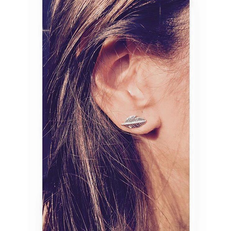 Brincos - Mini Leafs earrings