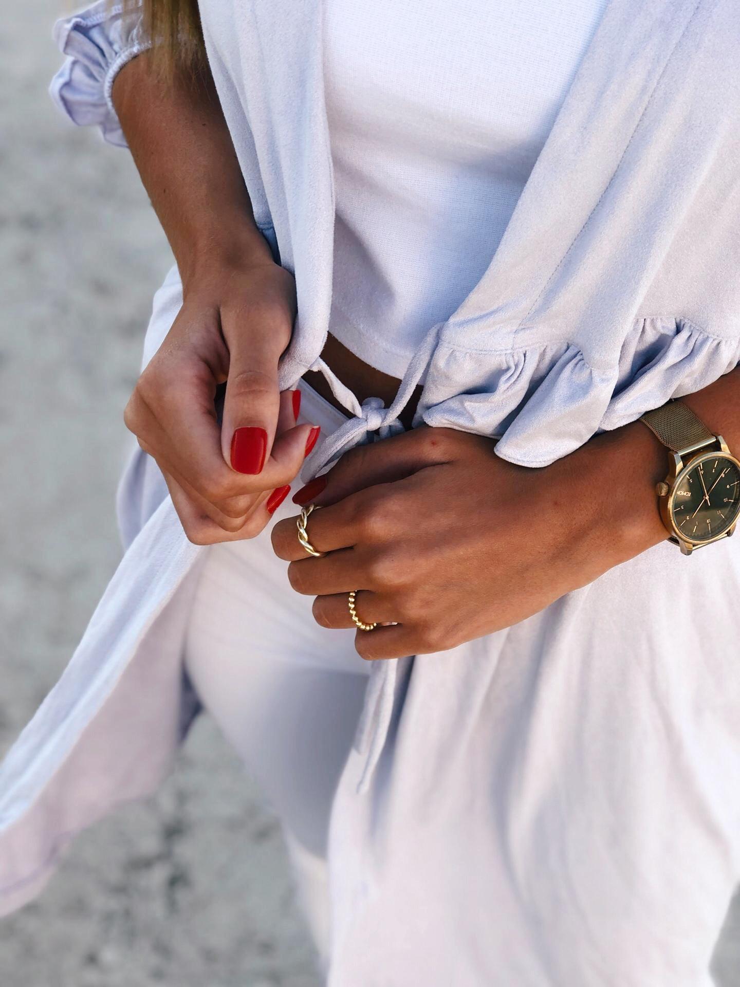 Anéis em prata dourada - Omer