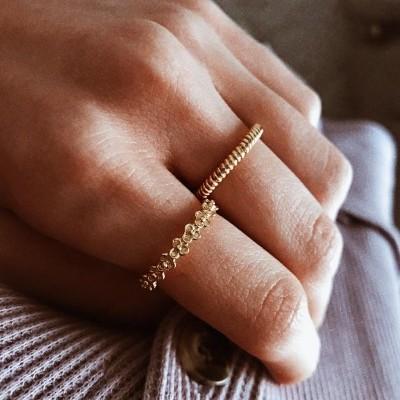 Anéis em prata dourada - New collection