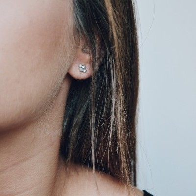 Brincos em prata - Mini dots