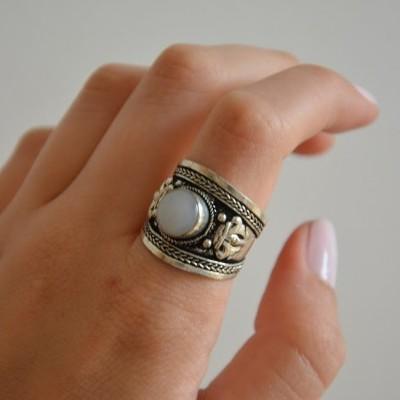 Anel - White Stone