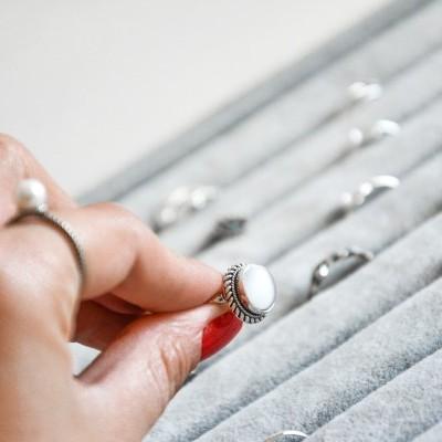 Pearl Ring - Anel em prata