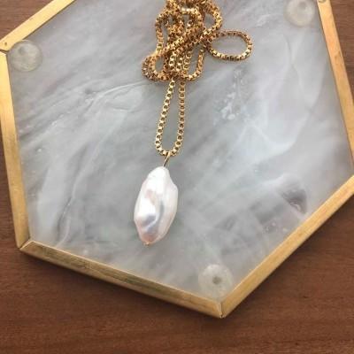 Colar em aço: Gold Pearl