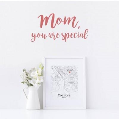 Mapa Moment in a Map - Dia da Mãe