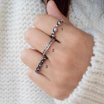 Anéis em Prata - Little Diamonds