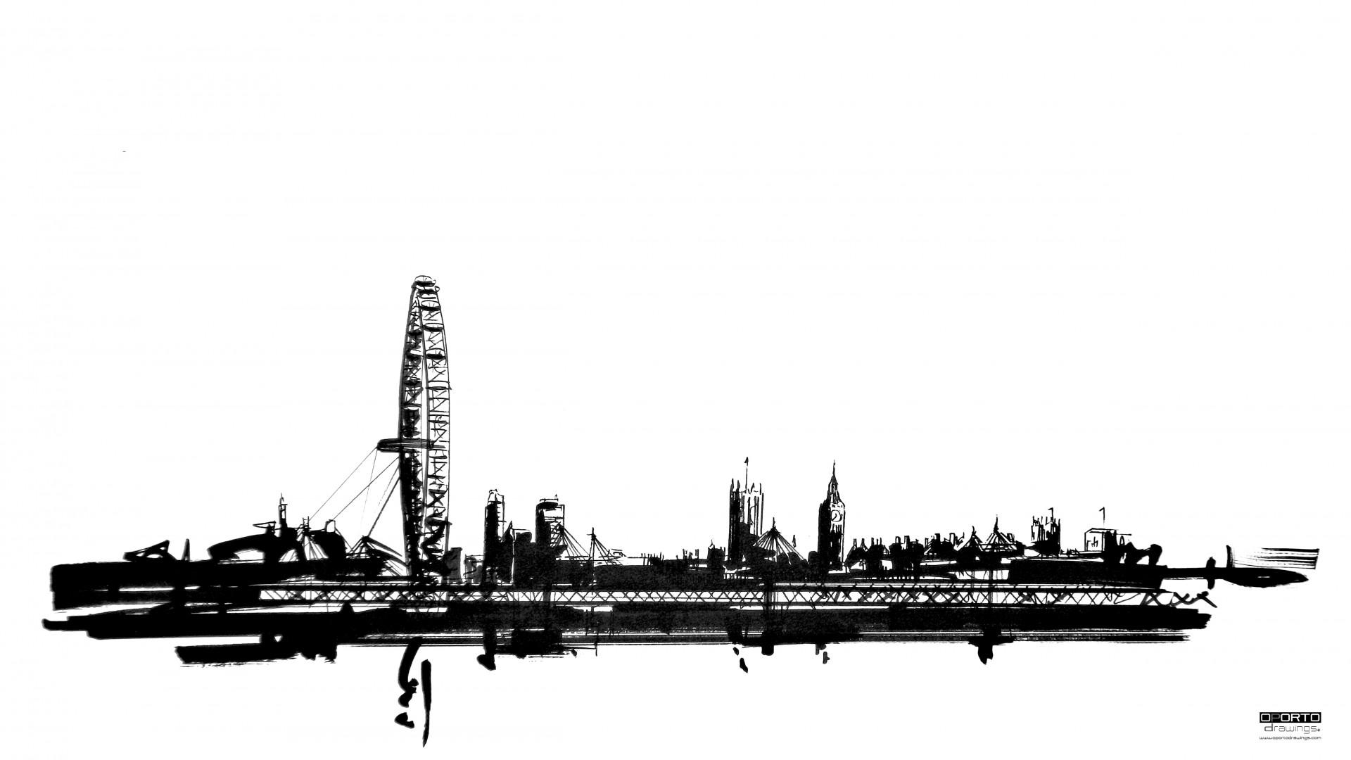 Skyline :: Londres | OPORTO drawings®