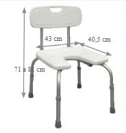 Cadeira de Duche com Assento em Ferradura