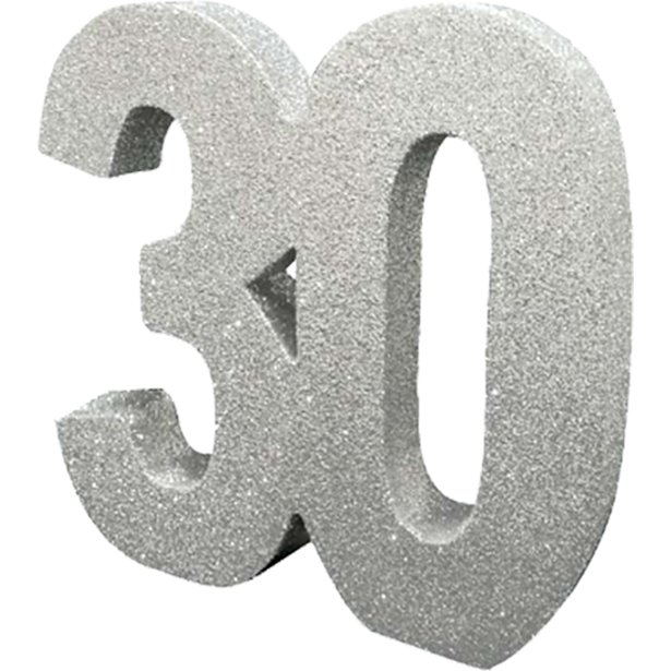 Decoração 30 Glitter Prateado