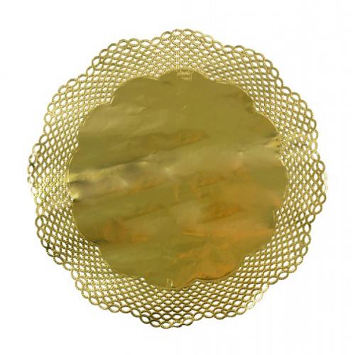 Conj. 4 Naperons Dourados