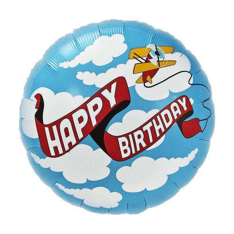 Balão Aviões Happy Birthday