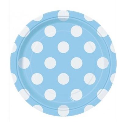 Pratos Azul Claro Bolas Pequenos
