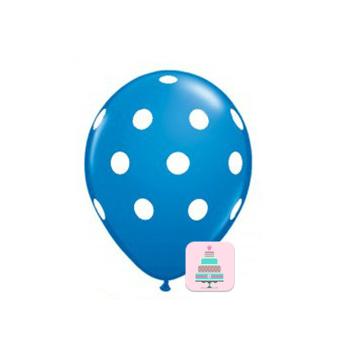 Conj. 10 Balões Bolinhas Azul