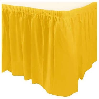 Saia de Mesa Amarelo