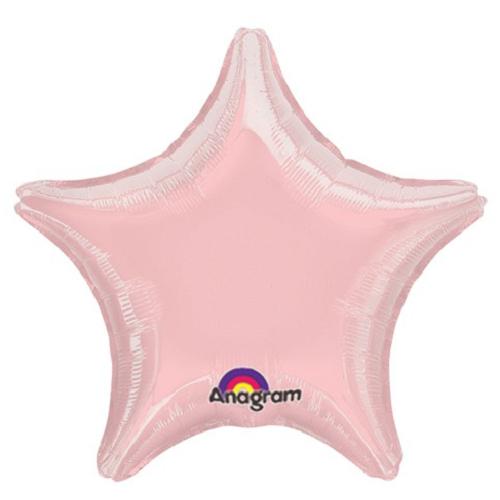 Balão Estrela Rosa Claro