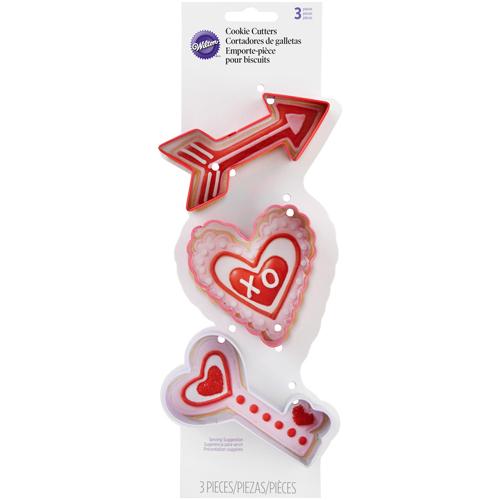 Conj. 3 Cortadores Dia dos Namorados