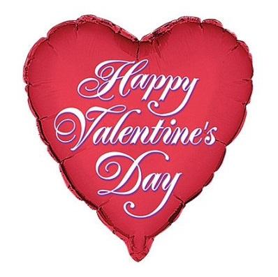 Balão Coração Happy Valentine