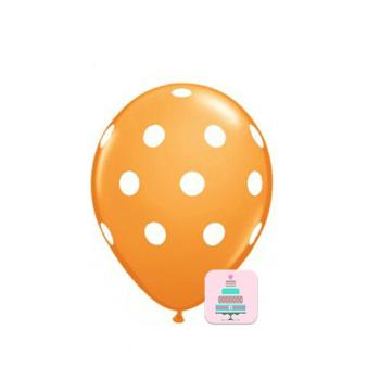 Conj. 10 Balões Bolinhas Laranja